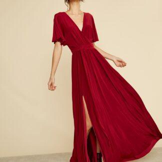ZOOT vínové maxi šaty