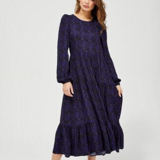 Moodo temně modré maxi šaty