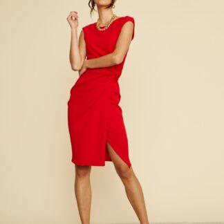 ZOOT červené pouzdrové šaty