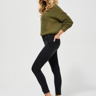Moodo černé džíny s cvočky