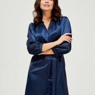 Moodo modré saténové šaty