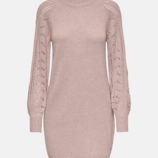 Jacqueline de Yong růžové svetrové šaty Avia