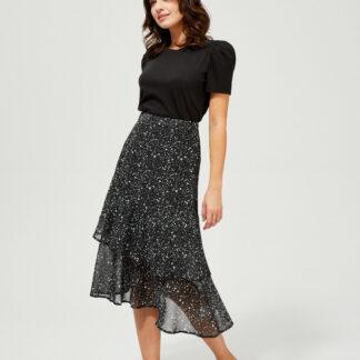 Moodo černá sukně s drobným vzorem