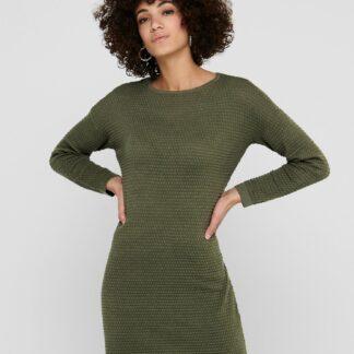 Jacqueline de Yong khaki svetrové šaty Barbarini