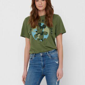 Jacqueline de Yong zelené dámské tričko Nina s potiskem