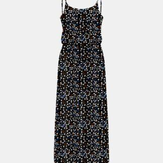 Only černé maxi šaty se vzory Nova