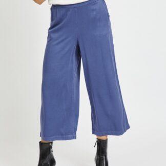 Vila modré tříčtvrteční kalhoty Fanza