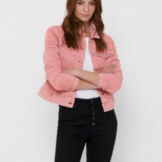 Jacqueline de Yong růžová džínová bunda Windy