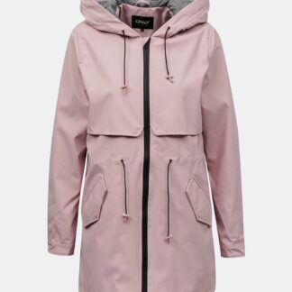 Only světle růžová voděodolná bunda