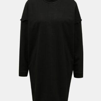 Jacqueline de Yong černé mikinové šaty Rikke