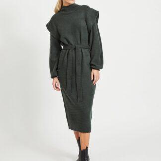 .OBJECT zelené svetrové midi šaty