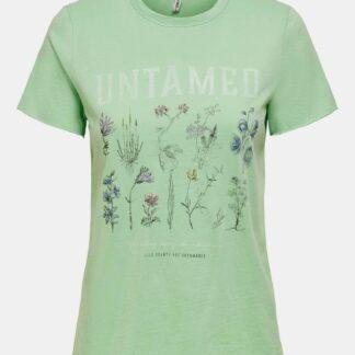Only zelené dámské tričko Lucy s potiskem