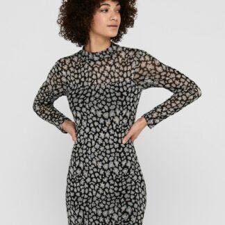 Jacqueline de Yong černé šaty Camille se vzory