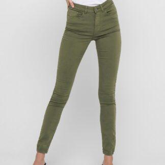 Jacqueline de Yong zelené skinny fit kalhoty Lara