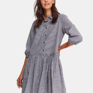 TOP SECRET šedé košilové šaty