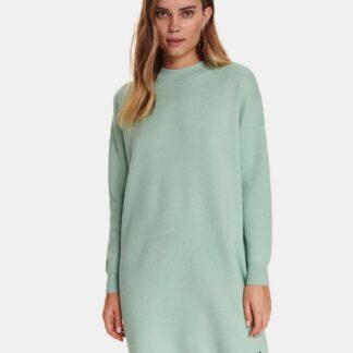 TOP SECRET mentolové svetrové šaty