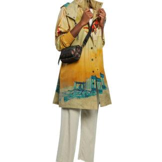 Desigual barevný kabát Chaq Venecia