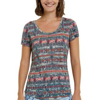 Desigual barevné tričko TS Santorini