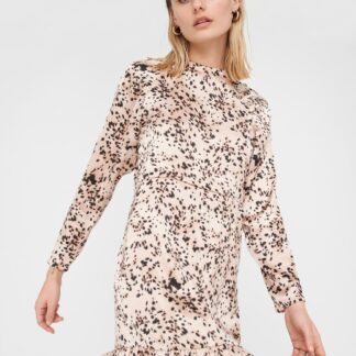 Noisy May pudrové vzorované šaty Satta