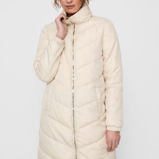 Jacqueline de Yong krémový prošívaný kabát Finno
