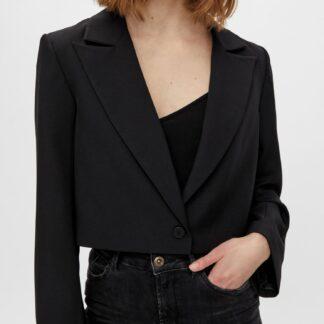 Pieces černé dámské krátké sako