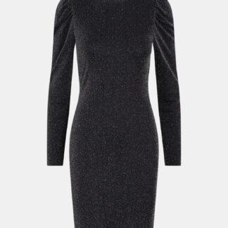 Pieces černé třpytivé šaty