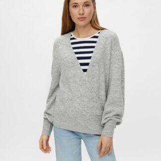 Pieces šedý dámský svetr