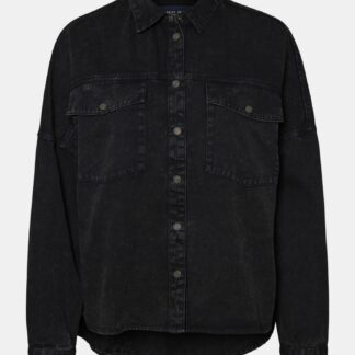 Noisy May černá denimová košile Rica