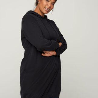 Zizzi černé mikinové šaty