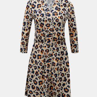 Noisy May krémové šaty se vzory