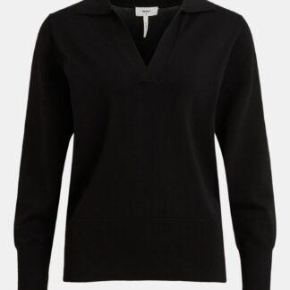.OBJECT černý dámský svetr s límečkem