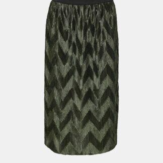 Jacqueline de Yong khaki plisovaná sukně ke kolenům