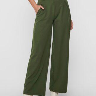 Jacqueline de Yong zelené široké kalhoty
