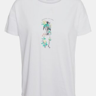 Noisy May bílé dámské tričko Command s potiskem