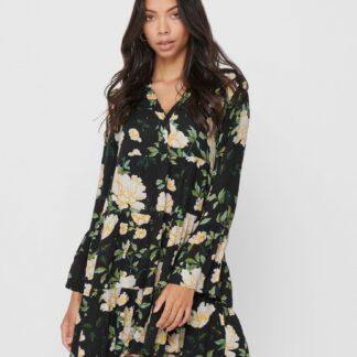 Only zeleno-černé květované šaty