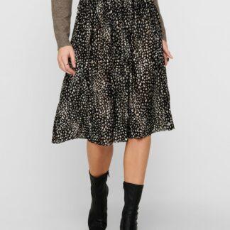 Jacqueline de Yong černá vzorovaná plisovaná sukně