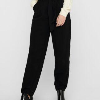 Jacqueline de Yong černé kalhoty se zavazováním