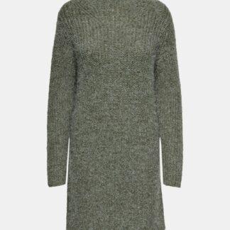 Jacqueline de Yong zelené svetrové šaty