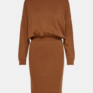 Only hnědé svetrové šaty