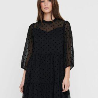 Only černé volné šaty
