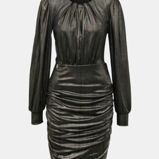 Jacqueline de Yong černé lesklé pouzdrové šaty