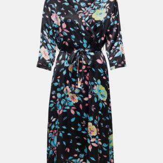 Jacqueline de Yong černé květované zavinovací šaty