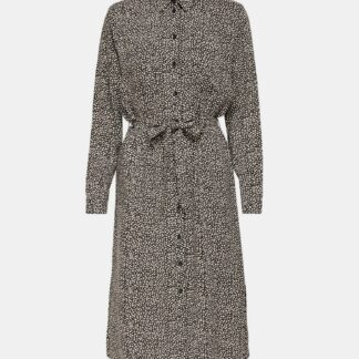 Jacqueline de Yong šedé košilové midišaty