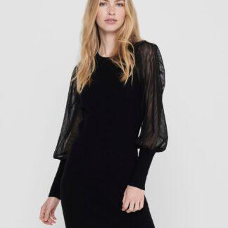 Only černé svetrové šaty