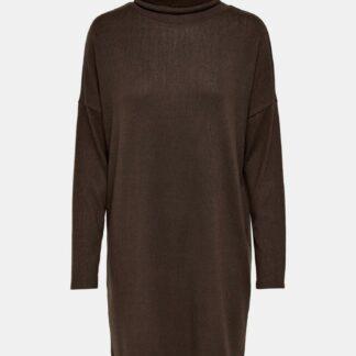 Jacqueline de Yong hnědé volné svetrové šaty