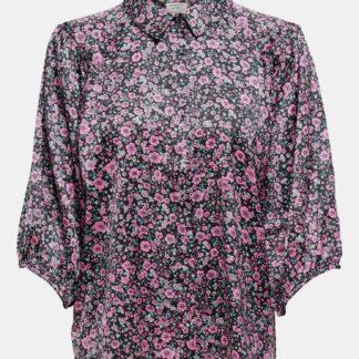 Jacqueline de Yong černá květovaná košile Juliette
