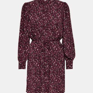 Jacqueline de Yong fialové košilové šaty se vzory
