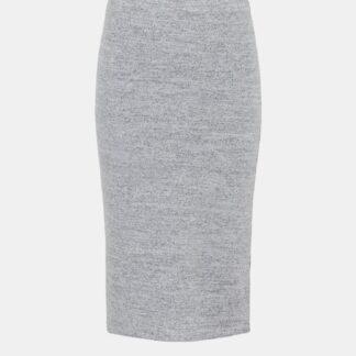 Pieces světle šedá pouzdrová dámská sukně