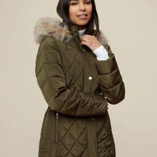 Dorothy Perkins khaki zimní bunda
