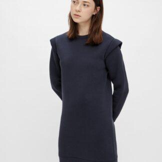 Pieces tmavě modré mikinové šaty